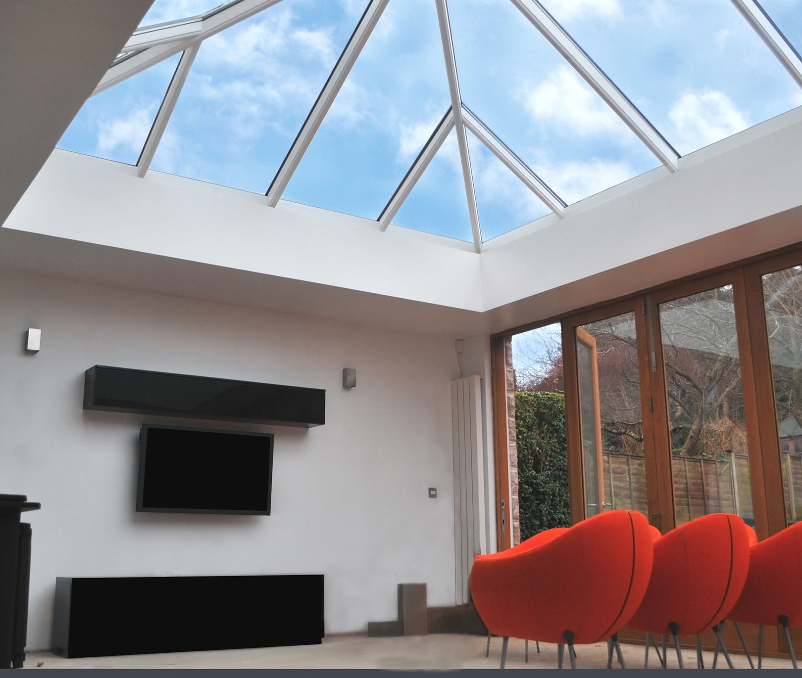 White uPVC Lantern Roof Interior