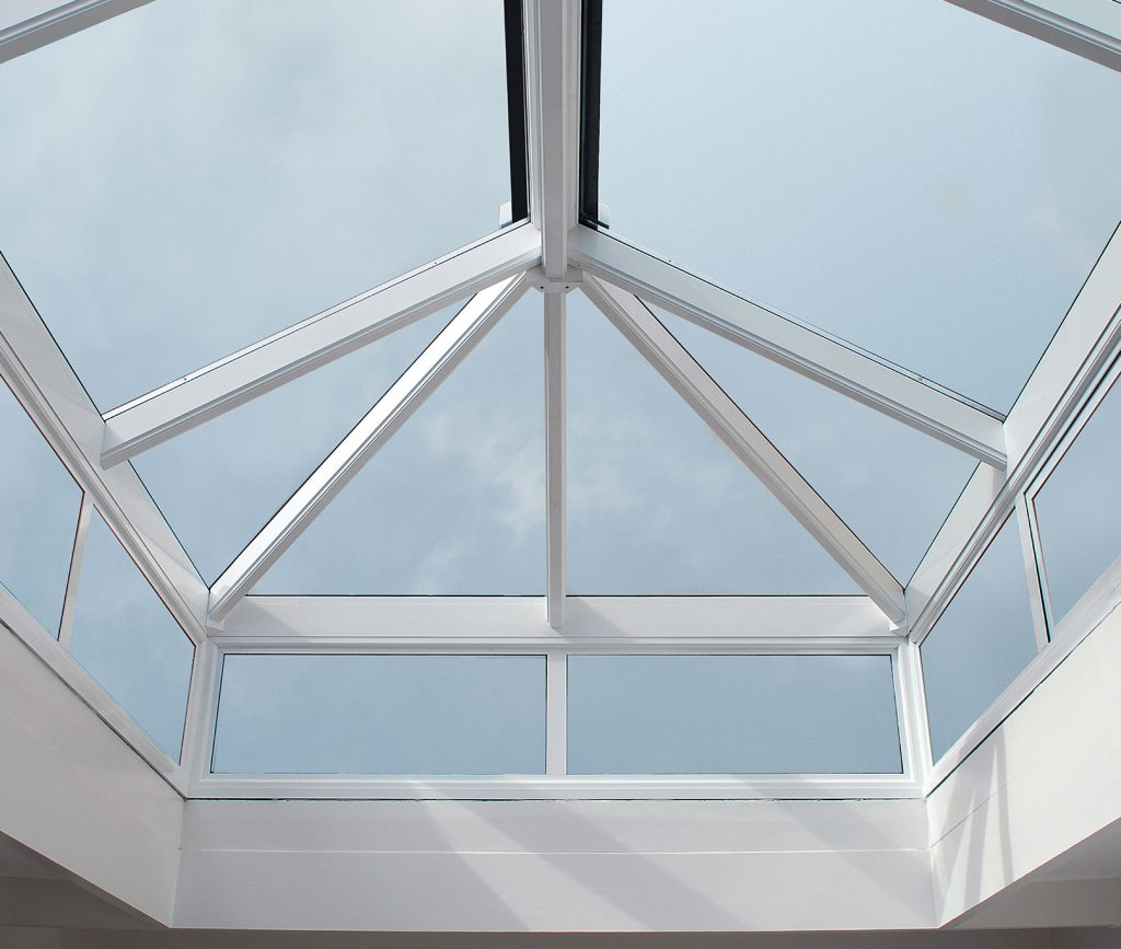 White uPVC Lantern Roof