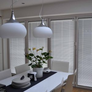 Aluminium doors with integral blinds