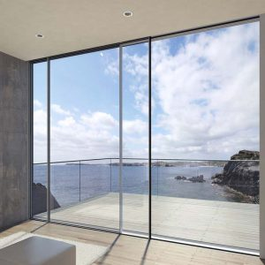 Large aluminium sliding patio door