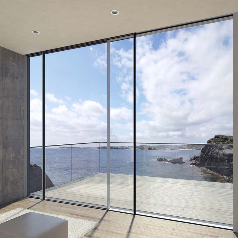 Sliding doors design bifolds for Large glass sliding doors for houses