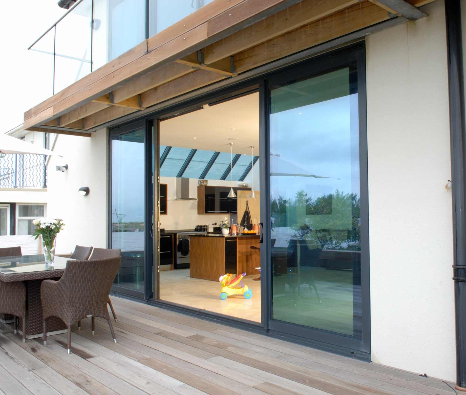 Sliding doors design bifolds for Sliding glass doors onto deck